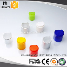 Plastic colorful disc top cap